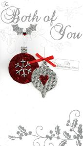 To Both Of You Special Luxury Handmade Christmas Card