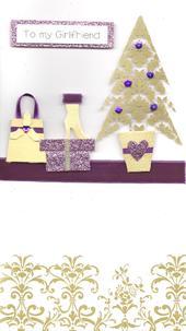 To My Girlfriend Special Luxury Handmade Christmas Card