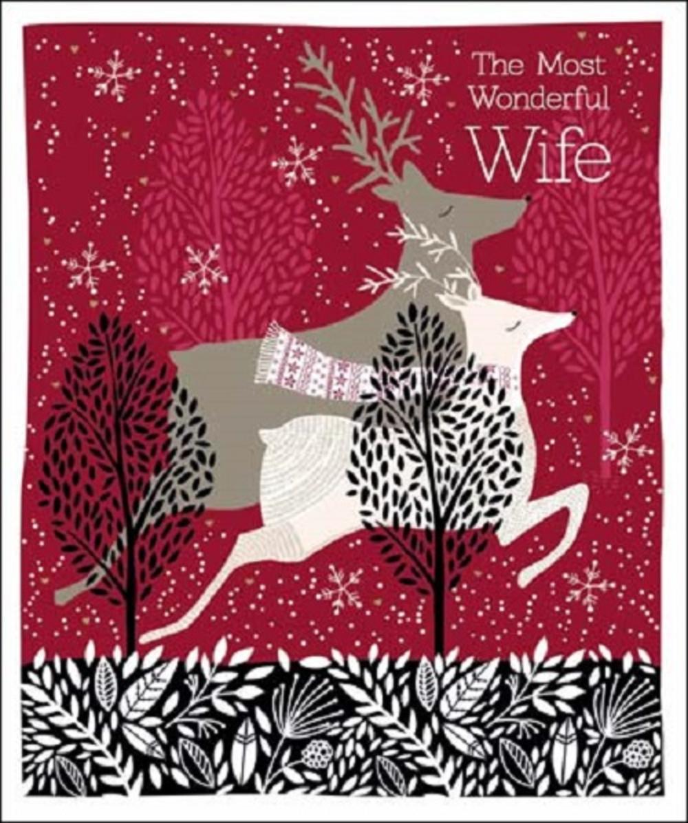Most Wonderful Wife Emma Grant Christmas Greeting Card