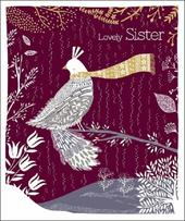 Lovely Sister Emma Grant Christmas Greeting Card