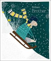 Brilliant Brother Emma Grant Christmas Greeting Card
