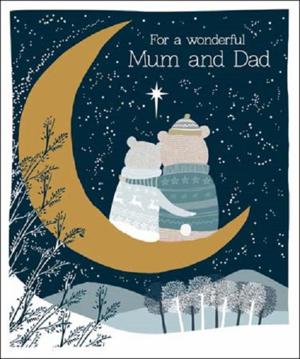 Mum And Dad Emma Grant Christmas Greeting Card
