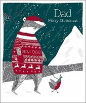 Dad Merry Christmas Emma Grant Christmas Greeting Card