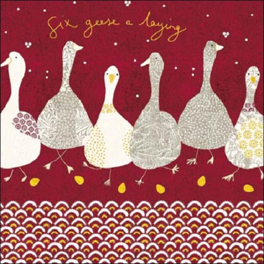 Six Geese A Laying National Trust Greeting Card