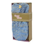 Cosy Toes Blue Knit Ladies Knitted Ankle Slipper Socks In Gift Box