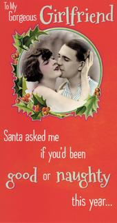 Gorgeous Girlfriend Merry Christmas Greeting Card