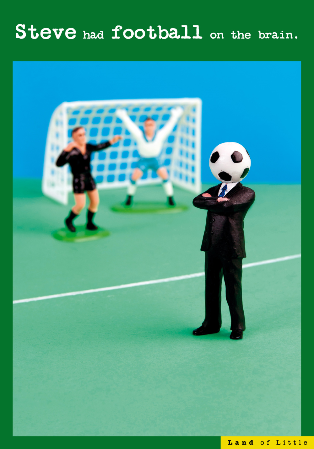 Football On The Brain Funny Birthday Card