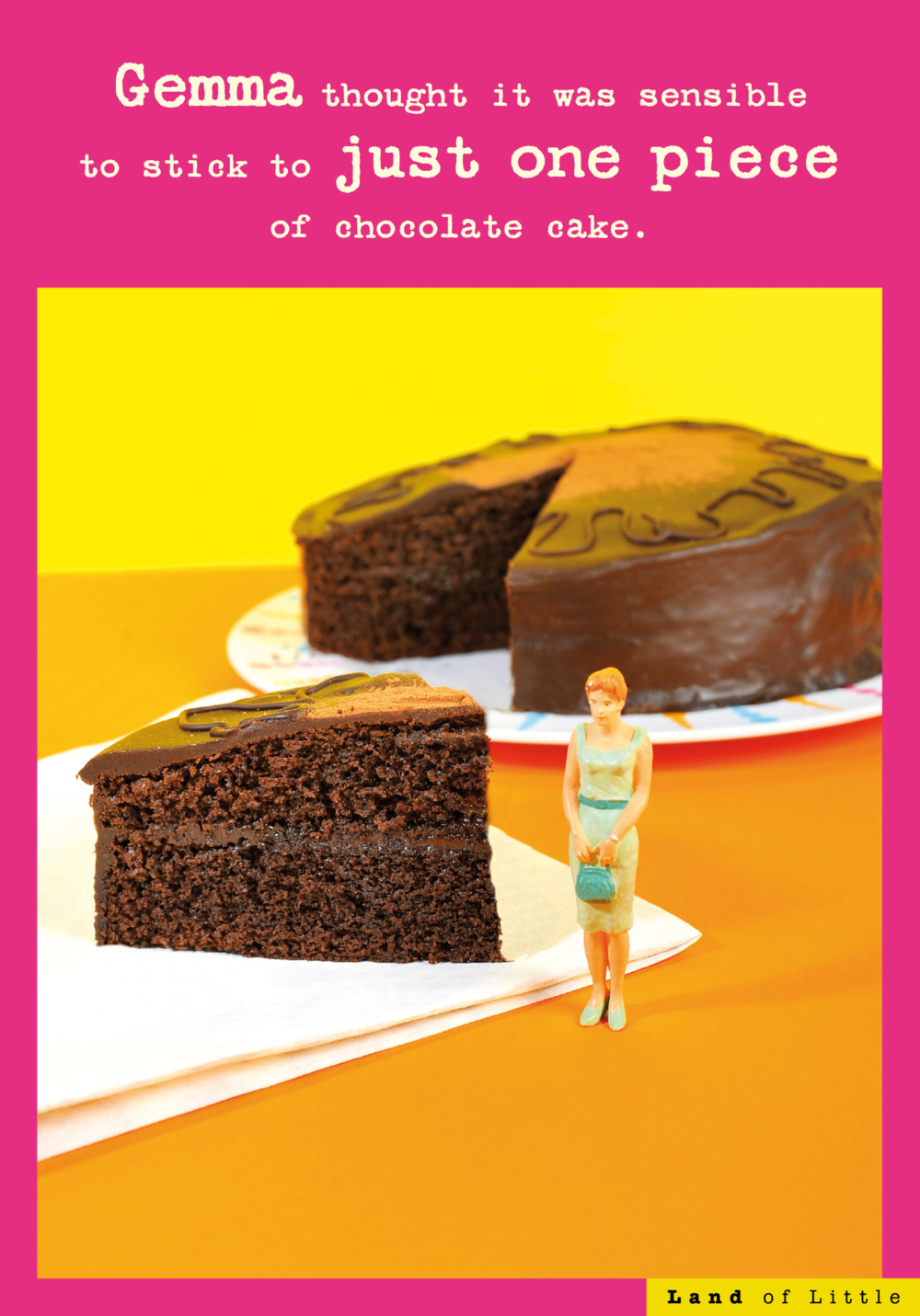 Just One Piece Of Cake Funny Birthday Card