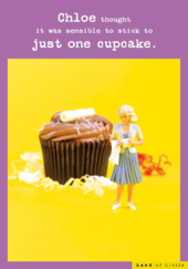 Just One Cupcake Funny Birthday Card