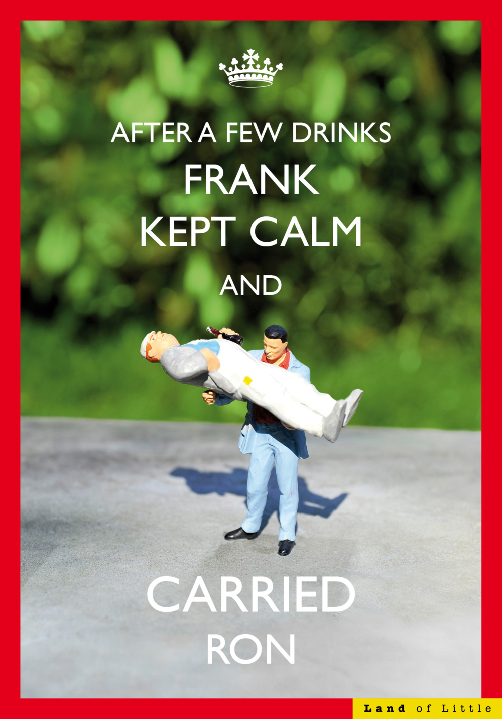 Kept Calm And Carried Ron Funny Birthday Card