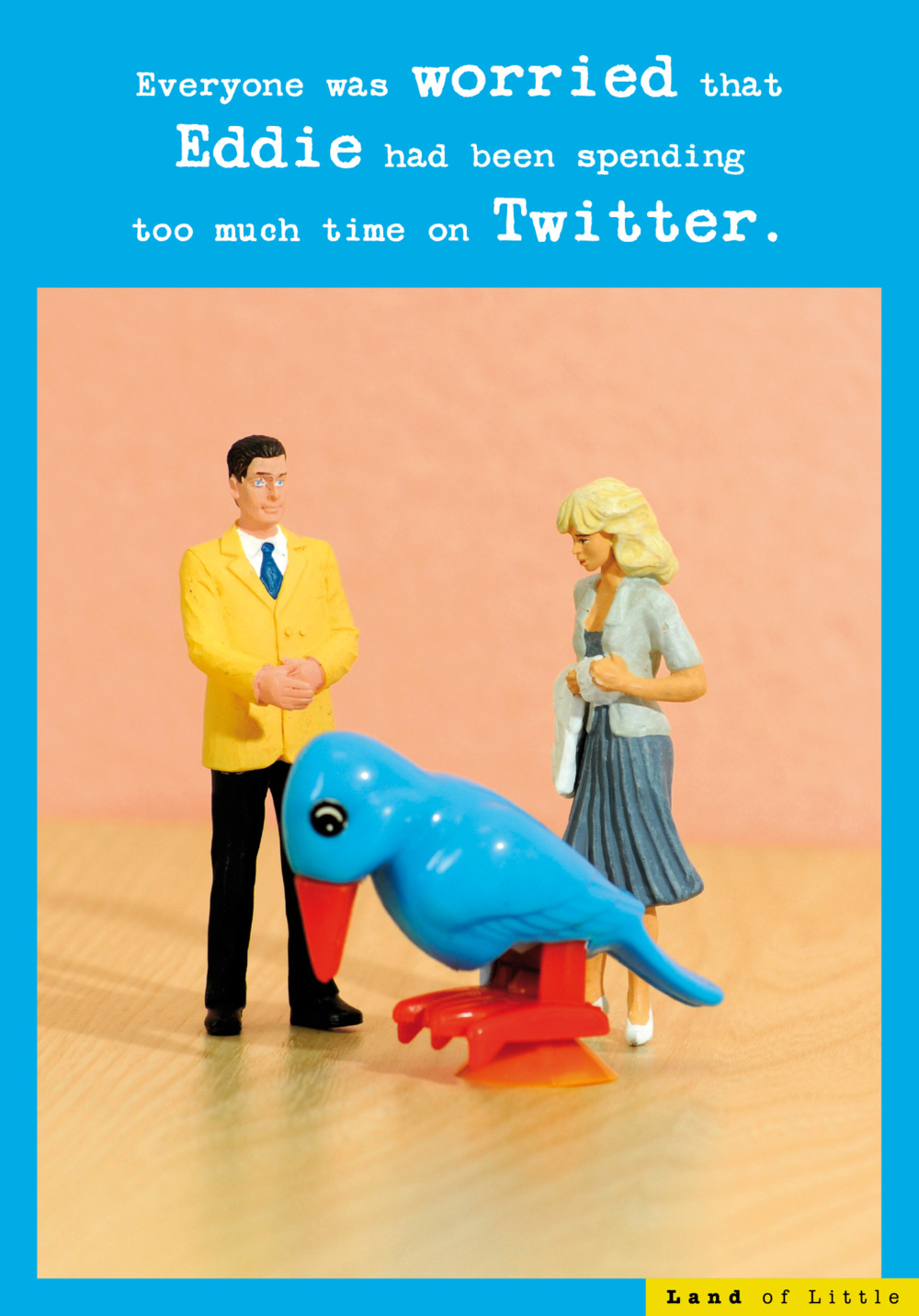 Too Much Time On Twitter Funny Birthday Card