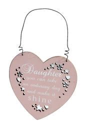 Daughter Make It Shine Hanging Plaque Gift