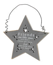 Friends Are Like Stars Hanging Plaque Gift
