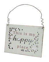 This Is My Happy Place Hanging Plaque Gift