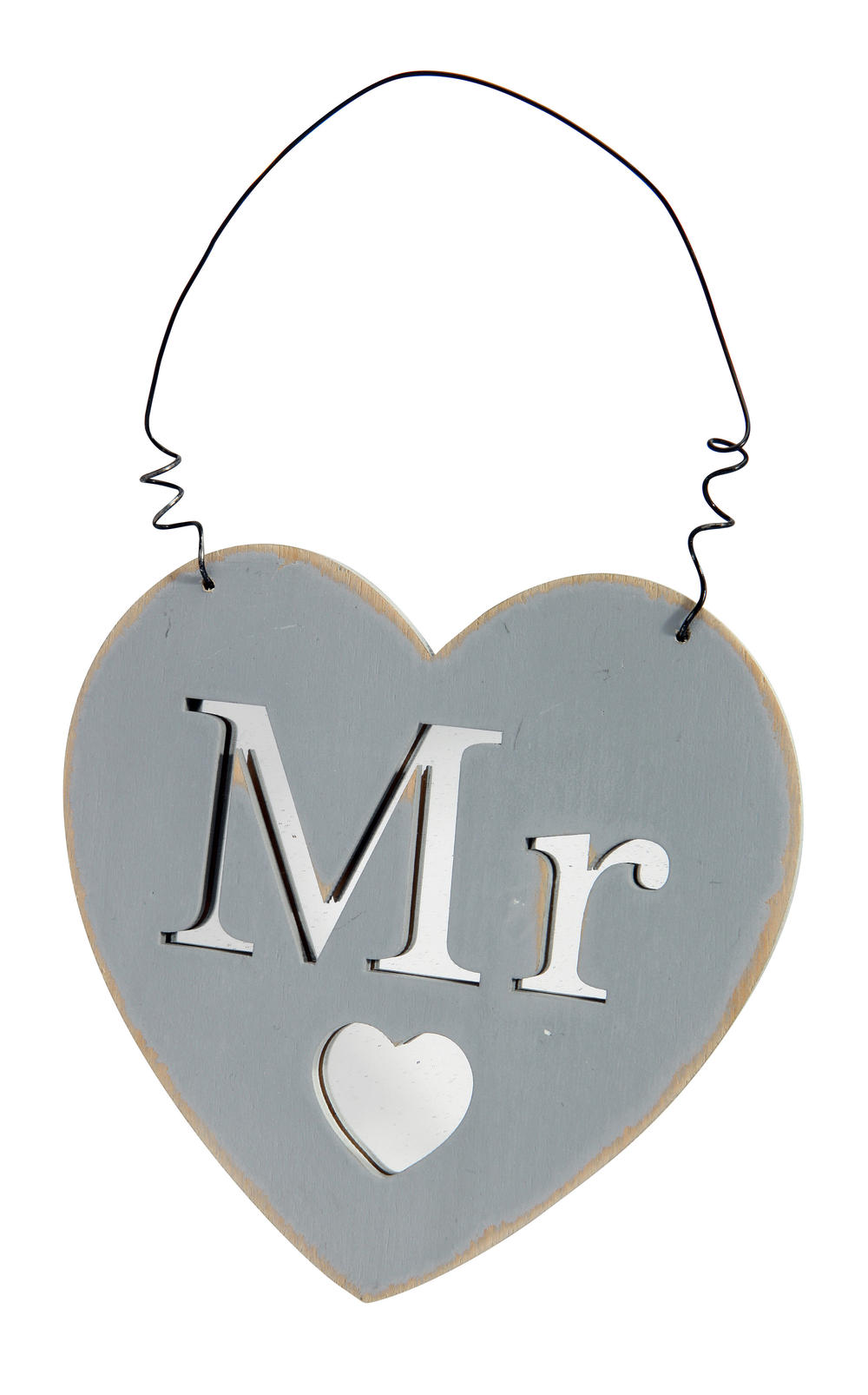 Mr Heart Hanging Plaque Gift