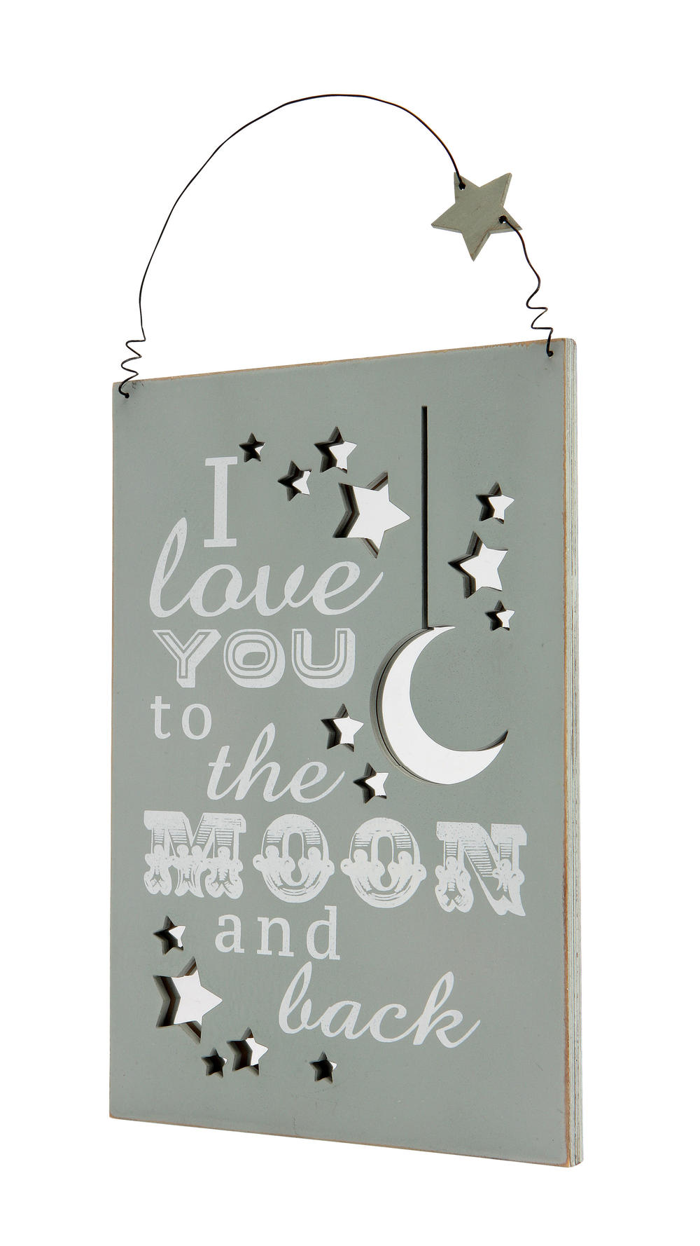 I Love You To The Moon & Back Hanging Plaque Gift