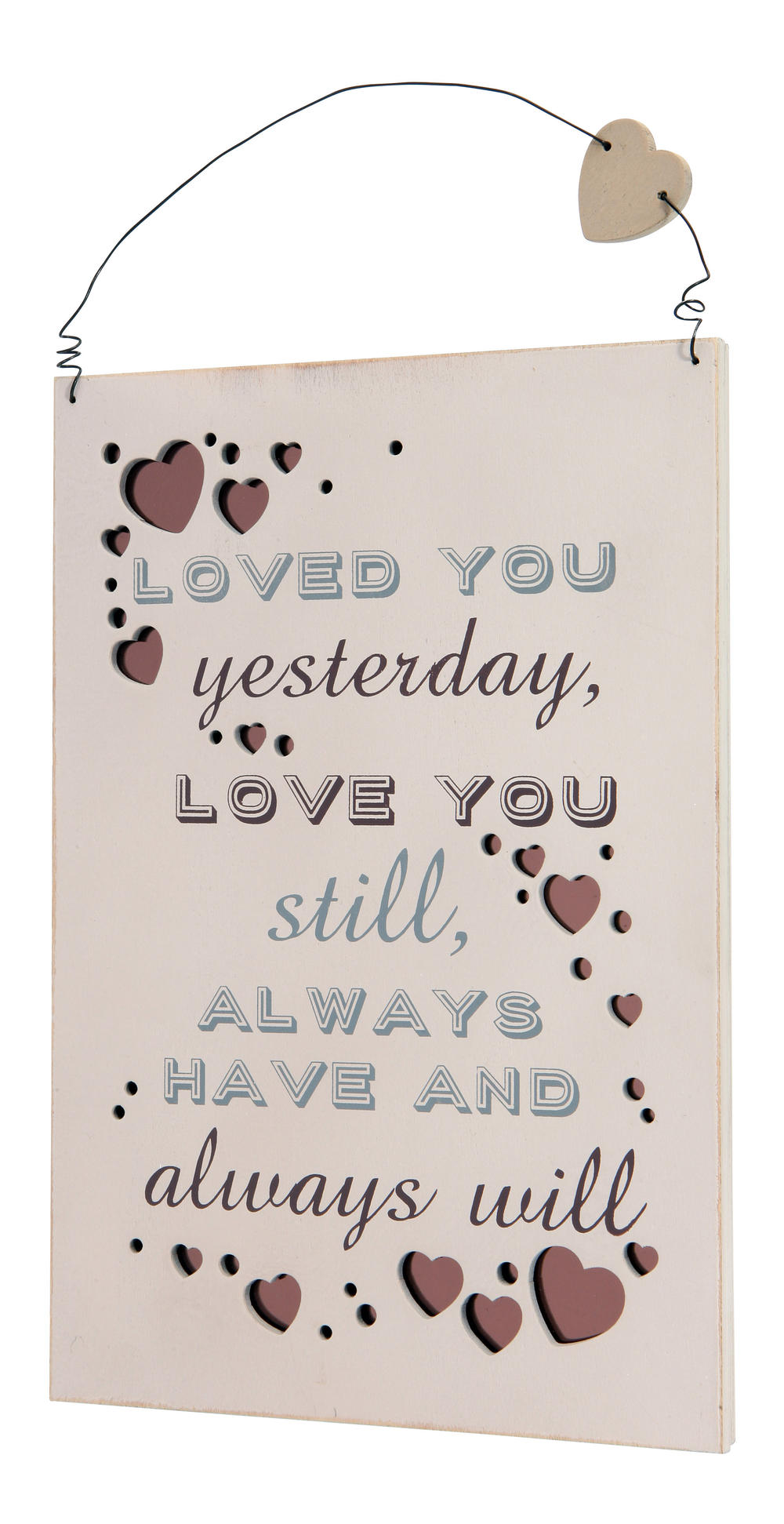 Loved You Yesterday Hanging Plaque Gift