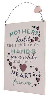 Mother Hold Hearts Forever Hanging Plaque Gift