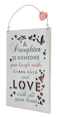 Daughter Dream With And Love Hanging Plaque Gift