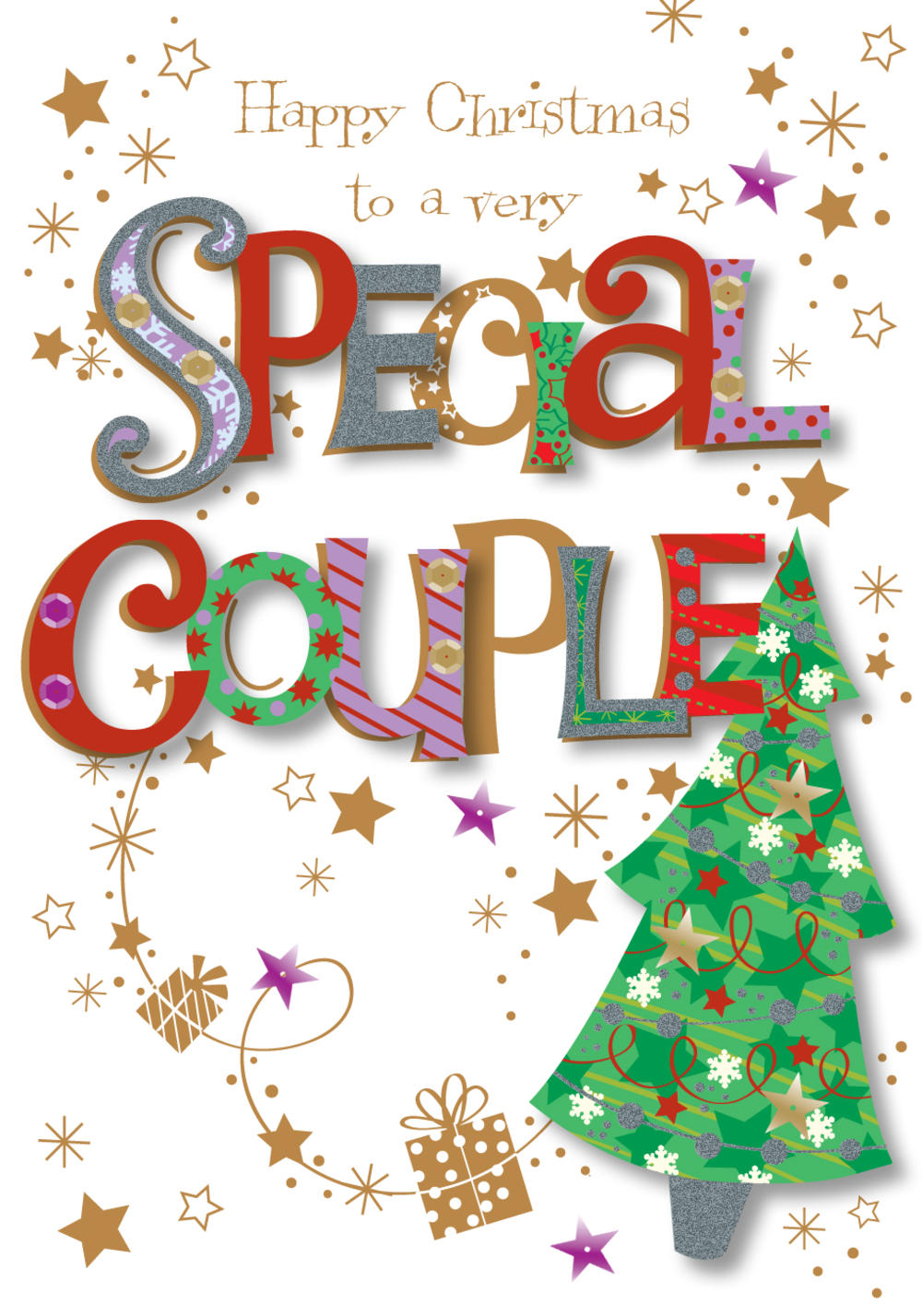 To A Special Couple Christmas Greeting Card