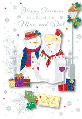 Wonderful Mum & Dad Christmas Greeting Card