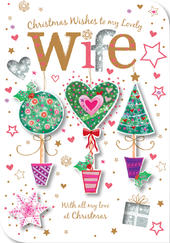 Lovely Wife Christmas Wishes Greeting Card
