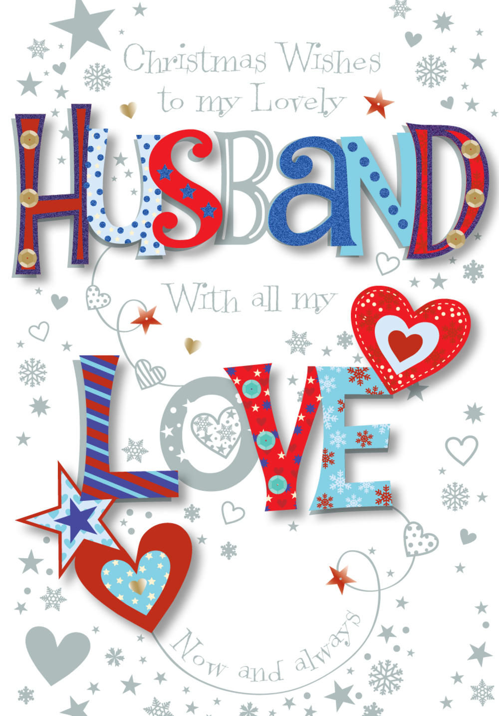 Lovely Husband Christmas Greeting Card