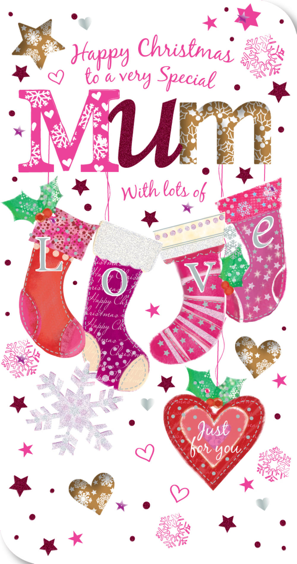 Special Mum Happy Christmas Greeting Card