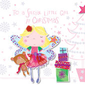 Special Little Girl At Christmas Greeting Card