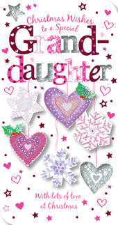 Special Granddaughter Christmas Greeting Card