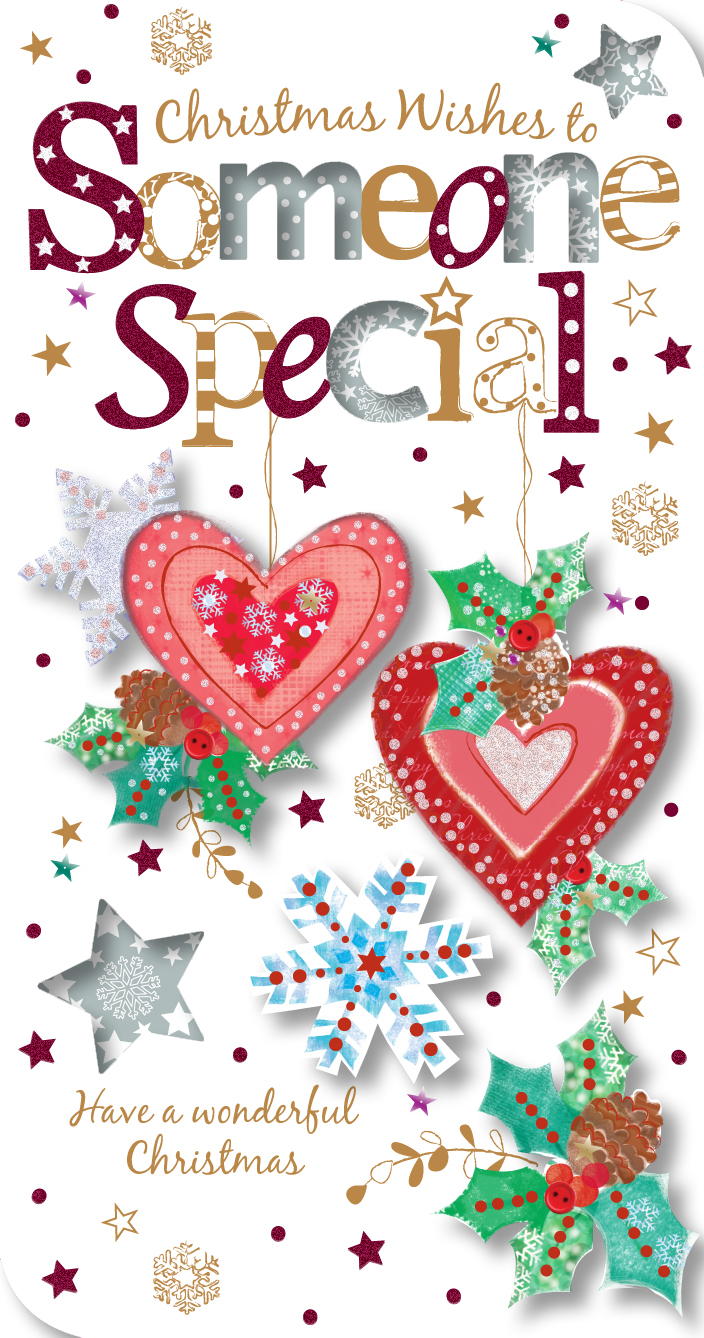 someone special christmas greeting card  cards  love kates