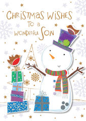 Wonderful Son Happy Christmas Greeting Card