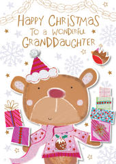 Wonderful Granddaughter Christmas Greeting Card