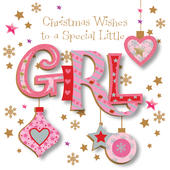 Special Little Girl Happy Christmas Greeting Card
