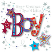 Special Little Boy Happy Christmas Greeting Card