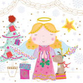 Lovely Angel Happy Christmas Greeting Card