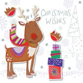 Cute Rudoph Christmas Greeting Card
