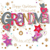 Wonderful Grandma Christmas Greeting Card