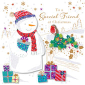 Special Friend At Christmas Greeting Card