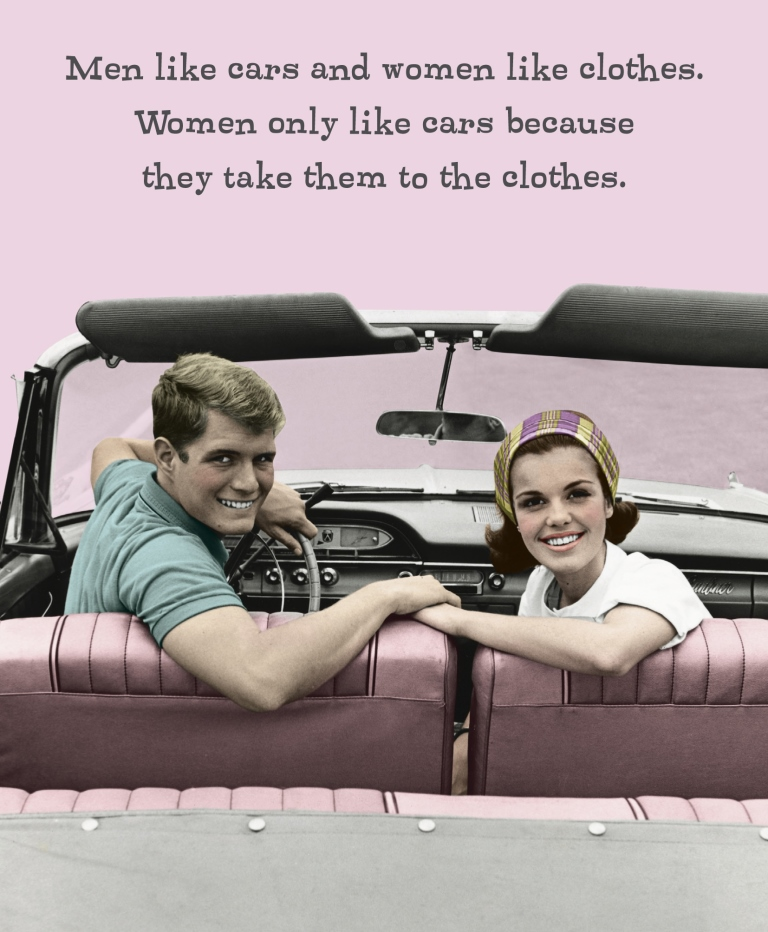 Cars Take Them To Clothes Funny Birthday Card