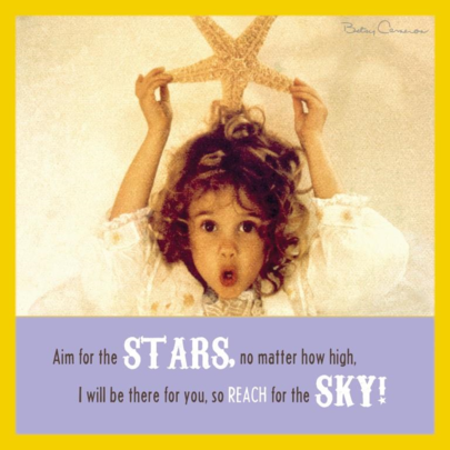 Betsy Cameron Aim For The Stars Greeting Card