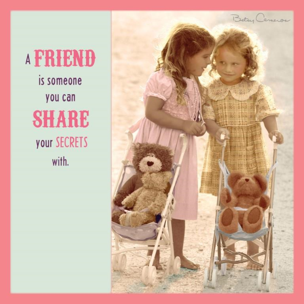 Betsy Cameron Share Your Secrets Greeting Card