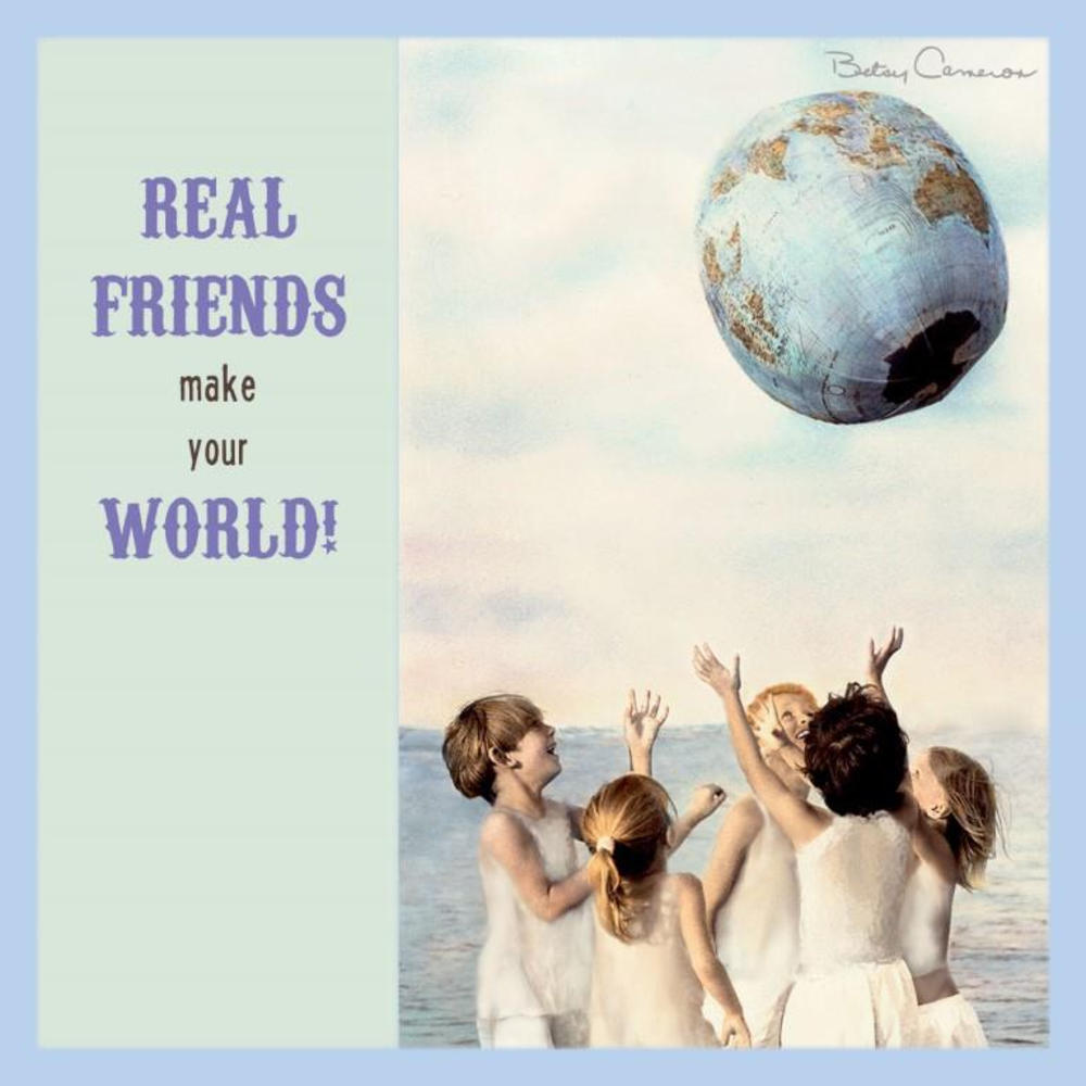 Betsy Cameron Real Friends Greeting Card