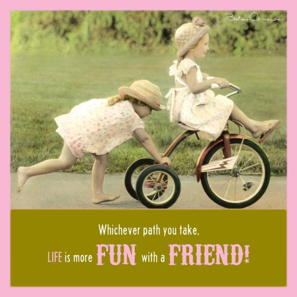 Betsy Cameron Fun With A Friend Greeting Card