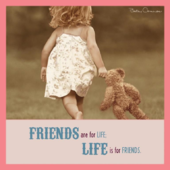 Betsy Cameron Life Is For Friends Greeting Card