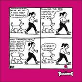Keep Fit Campaign Cartoon Dog Humour Greeting Card