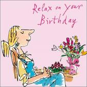Relax On Your Birthday Quentin Blake Greeting Card