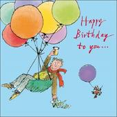 Balloons Happy Birthday To You Quentin Blake Greeting Card
