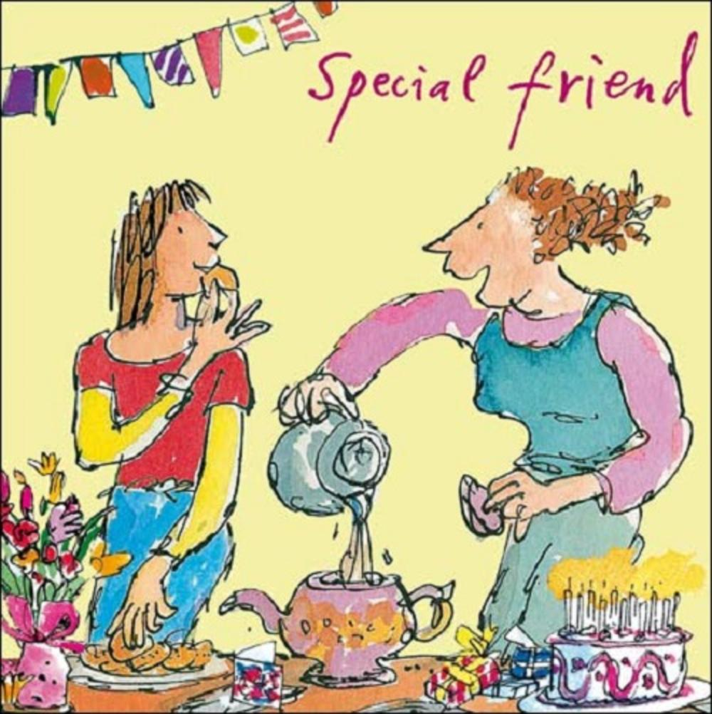 Special Friend Birthday Quentin Blake Greeting Card