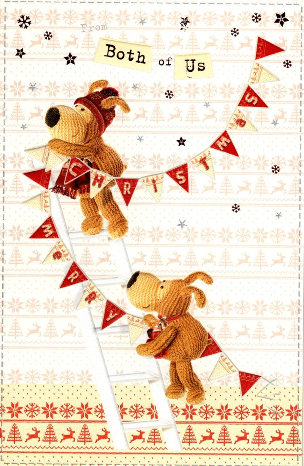 Boofle From Both Of Us Christmas Greeting Card